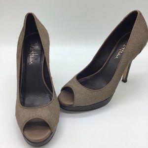 Cole Haan Faux Fur Nike Air Heels Size 6 B
